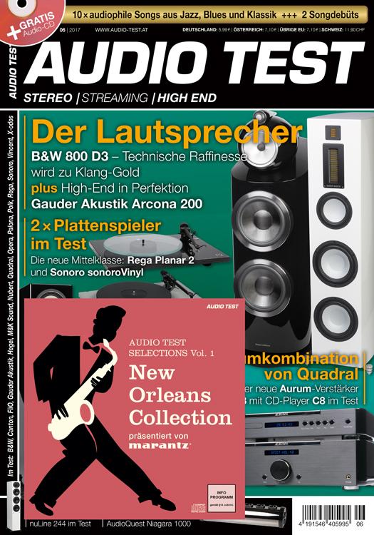 audio test 6 2017 mit lautsprecher extra und musik cd. Black Bedroom Furniture Sets. Home Design Ideas